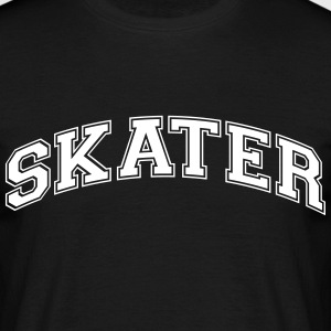skater college style curved logo - Men's T-Shirt