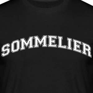 sommelier college style curved logo - Men's T-Shirt