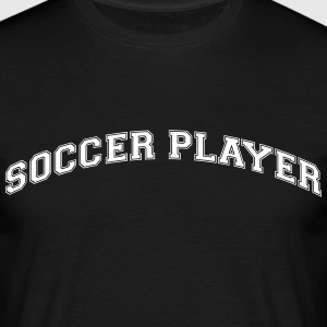 soccer player college style curved logo - Men's T-Shirt