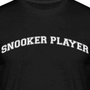 snooker player college style curved logo - Männer T-Shirt