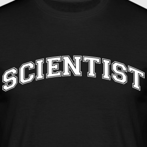 scientist college style curved logo - Men's T-Shirt