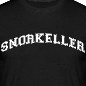 snorkeller college style curved logo - Men's T-Shirt