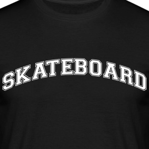 skateboard college style curved logo - Men's T-Shirt