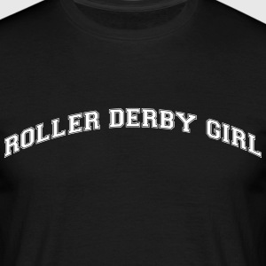 roller derby girl college style curved l - Men's T-Shirt
