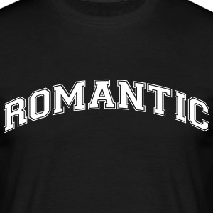 romantic college style curved logo - Men's T-Shirt