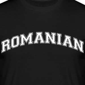romanian  college style curved logo - Men's T-Shirt