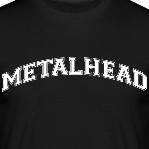 metalhead college style curved logo - Men's T-Shirt