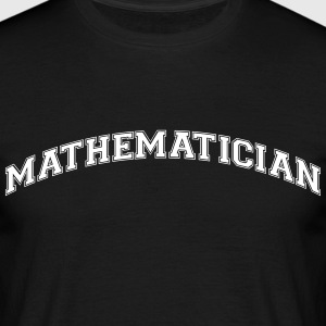 mathematician college style curved logo - Men's T-Shirt