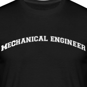 mechanical engineer college style curved - Men's T-Shirt