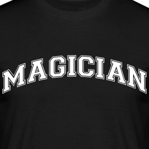magician college style curved logo - Men's T-Shirt