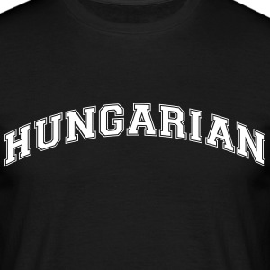 hungarian  college style curved logo - Men's T-Shirt