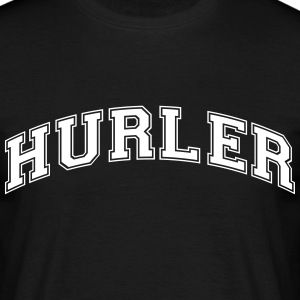 hurler college style curved logo - Men's T-Shirt