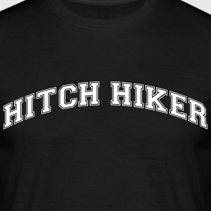 hitch hiker college style curved logo - Men's T-Shirt