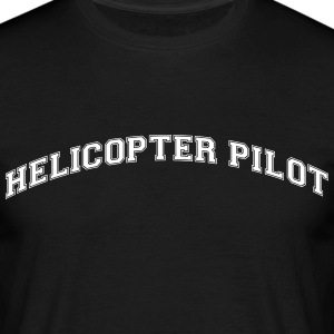 helicopter pilot college style curved lo - Männer T-Shirt