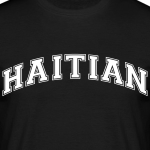haitian  college style curved logo - Men's T-Shirt