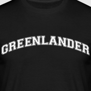 greenlander  college style curved logo - Men's T-Shirt