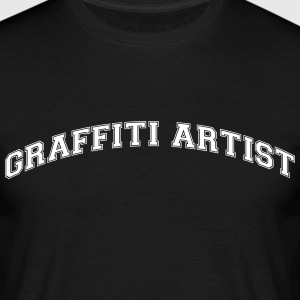 graffiti artist college style curved log - Men's T-Shirt