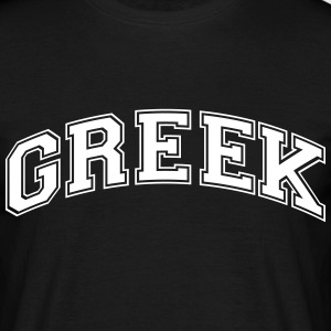 greek college style curved logo - Men's T-Shirt