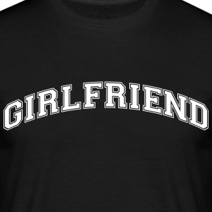 girlfriend college style curved logo - Men's T-Shirt