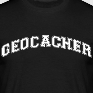 geologist college style curved logo - Men's T-Shirt