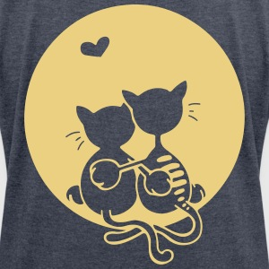 Love cats T-Shirts - Women's T-shirt with rolled up sleeves
