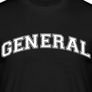 general college style curved logo - Men's T-Shirt