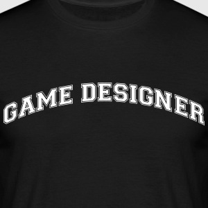 game designer college style curved logo - Men's T-Shirt