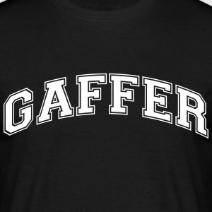 gaffer college style curved logo - Men's T-Shirt