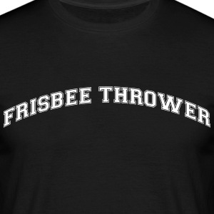 frisbee thrower college style curved log - Men's T-Shirt