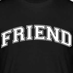 friend college style curved logo - Männer T-Shirt