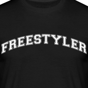 freestyler college style curved logo - Männer T-Shirt