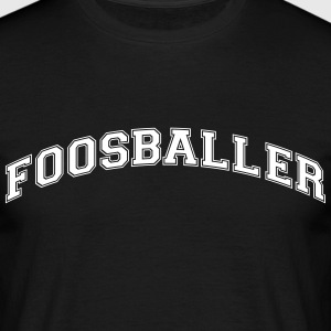 foosballer college style curved logo - Men's T-Shirt