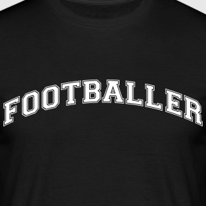 footballer college style curved logo - Men's T-Shirt
