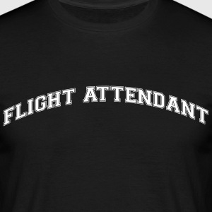 flight attendant college style curved lo - Männer T-Shirt