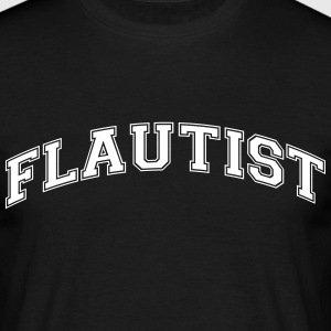flautist college style curved logo - Men's T-Shirt