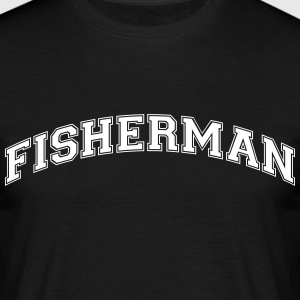 fisherman college style curved logo - Men's T-Shirt