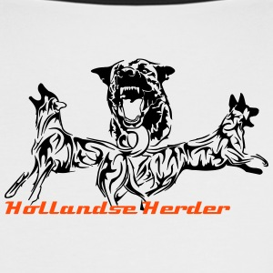 Hollandse Herder T-Shirts - Frauen Kontrast-T-Shirt