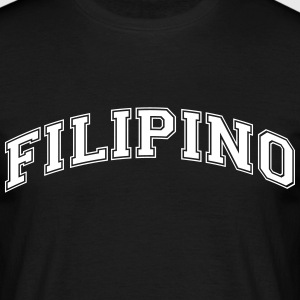 filipino  college style curved logo - Men's T-Shirt