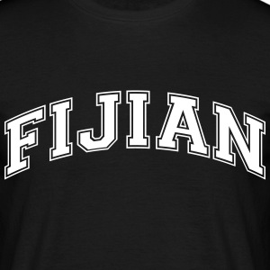 fijian  college style curved logo - Men's T-Shirt