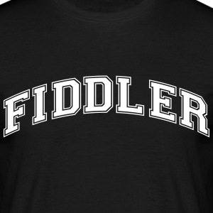 fiddler college style curved logo - Männer T-Shirt