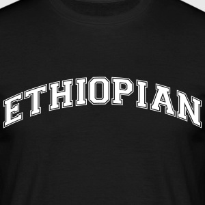ethiopian college style curved logo - Men's T-Shirt