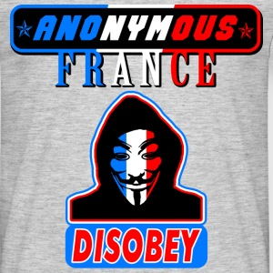anonymous france disobey Tee shirts - T-shirt Homme