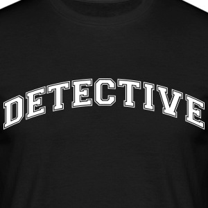 detective college style curved logo - Men's T-Shirt