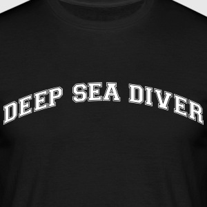 deep sea diver college style curved logo - Men's T-Shirt