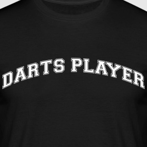 darts player college style curved logo - Men's T-Shirt