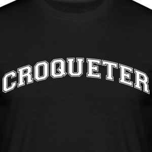 croqueter college style curved logo - Men's T-Shirt