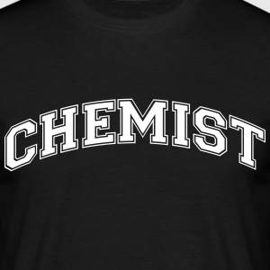 chemist college style curved logo - Men's T-Shirt