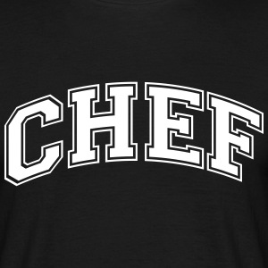 chef college style curved logo - Men's T-Shirt