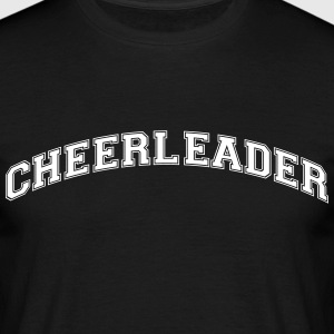 cheerleader college style curved logo - Männer T-Shirt