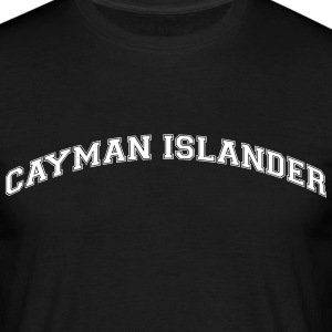 cayman islander  college style curved lo - Männer T-Shirt